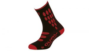 Calcetines Catlike Oval negro/rojo