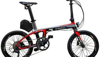 Bicicleta eléctrica Plegable,Pasione cuadro carbono