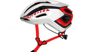 Casco Scott Centric blanco/rojo